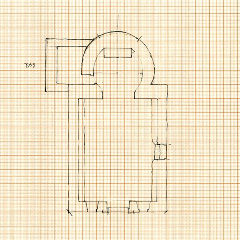 Plan of the chapel - José Luís Madeira, 1995