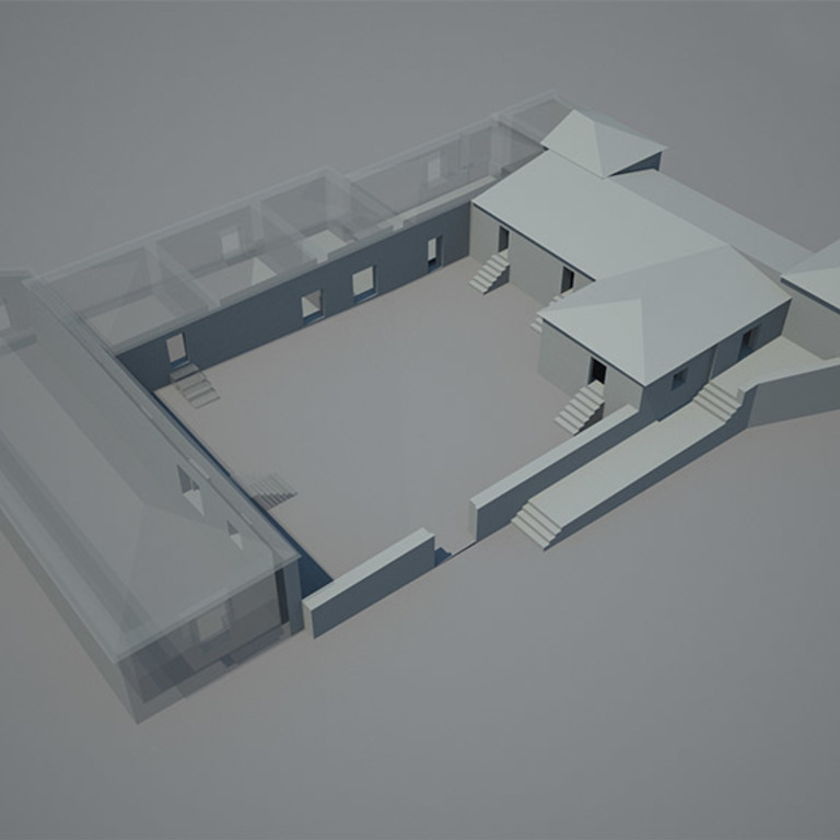 Model of the evolution of the building - interpretation proposal