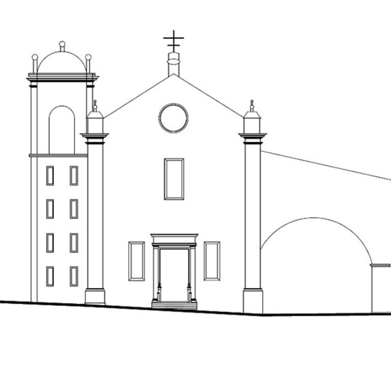 Fachada da igreja - proposta de interpretação