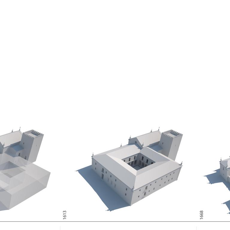 Proposta interpretativa da evolução do mosteiro