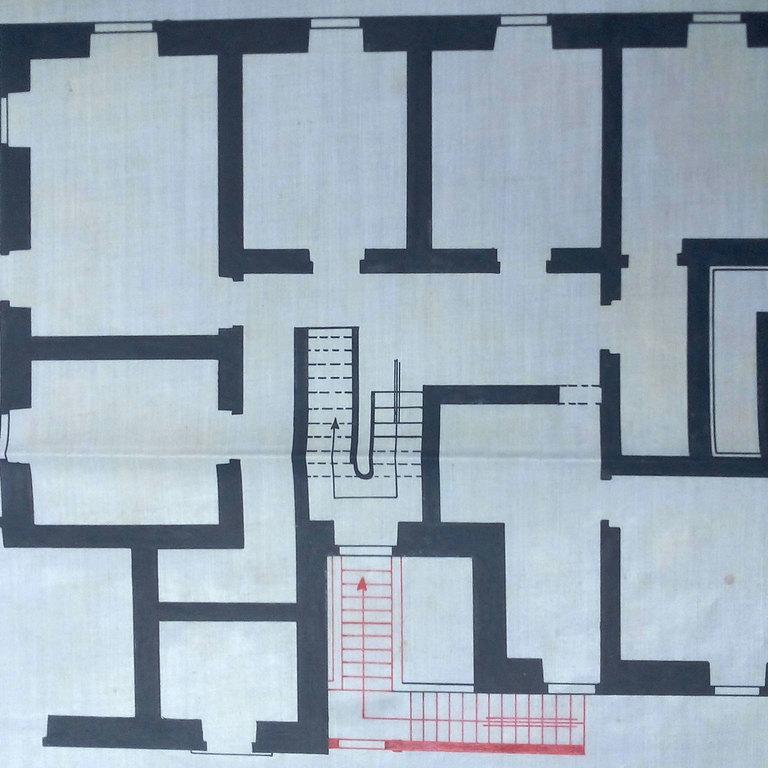 Planta da alteração das escadas exteriores (documento CMC)