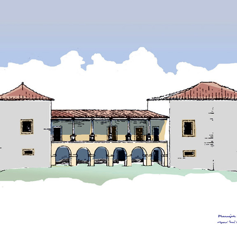Drawing of the facade - José Luís Madeira, 1995