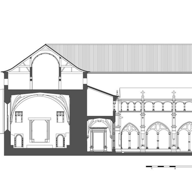 Corte Transversal (Ala dos dormitórios)