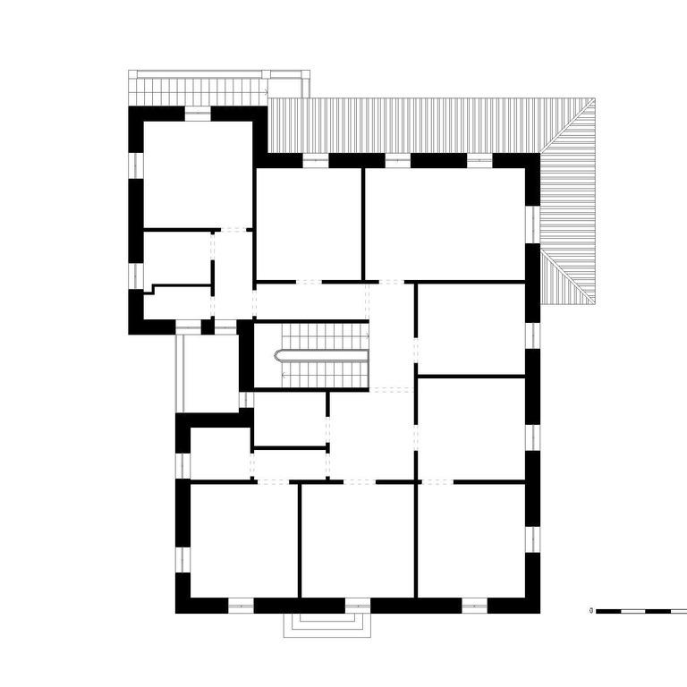 Planta do piso 2 - proposta do edifício original