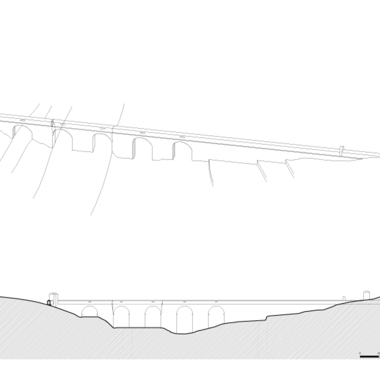 3D reconstruction of the section on the valley where the IC2 passes today