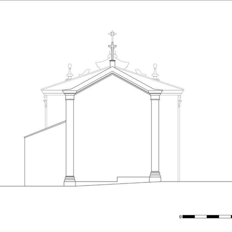 Capela de Nossa Senhora da Cabeça - alçado nascente