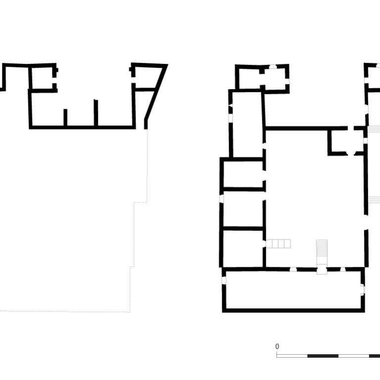 Plans of the main building - survey (based on the survey of José Luís Madeira, 1995)
