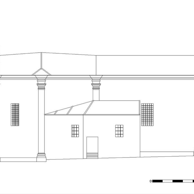 Capela de Nossa Senhora da Cabeça - alçado sul