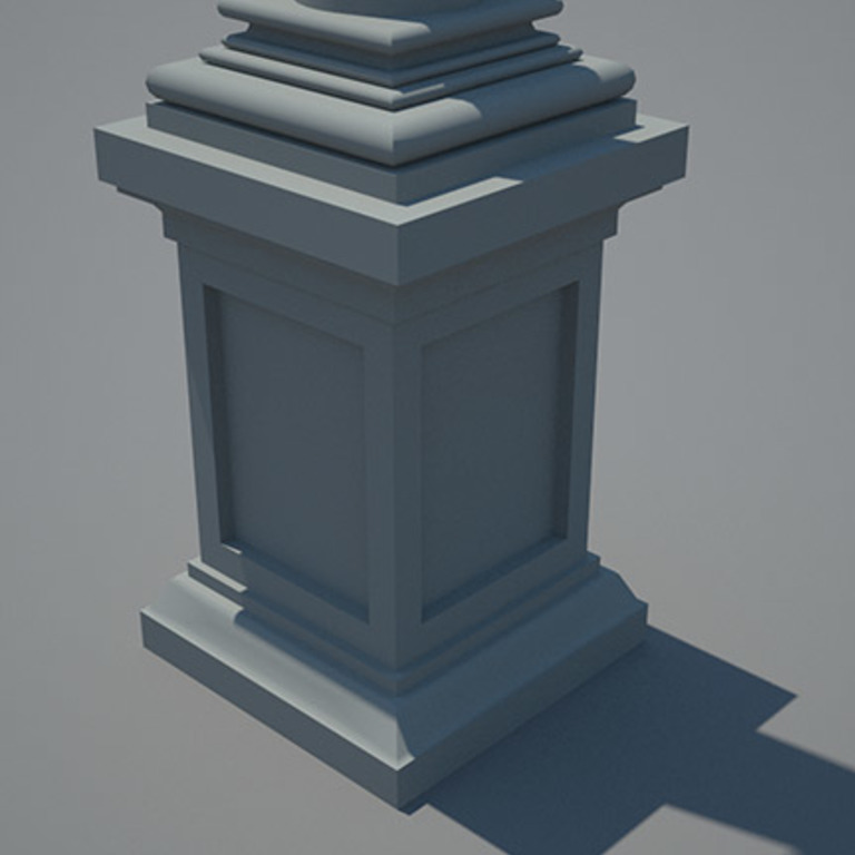 3D model of the pedestal - based on the survey by José Luís Madeira, 1995