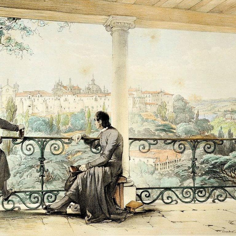 Gravura «Looking over the gardens of Santa Cruz», George Vivian, 1839