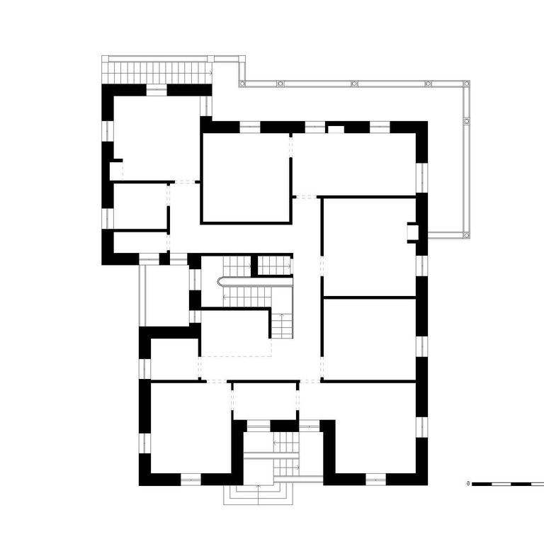 Planta do piso 1 - proposta do edifício original