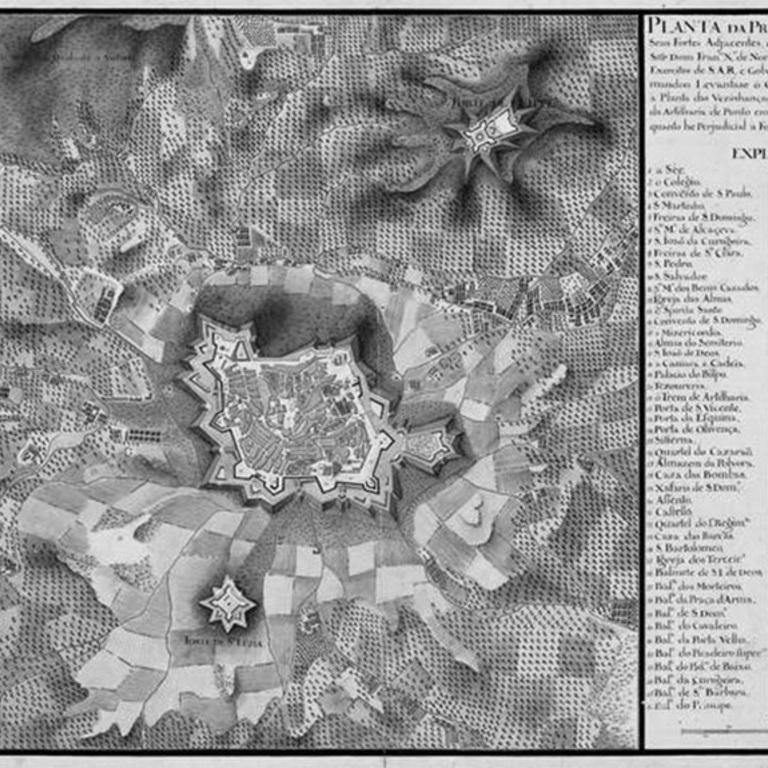 «Planta da Praça de Elvas com seus Fortes Adjacentes», 1753-1A-14-19 DSE CRT/2003