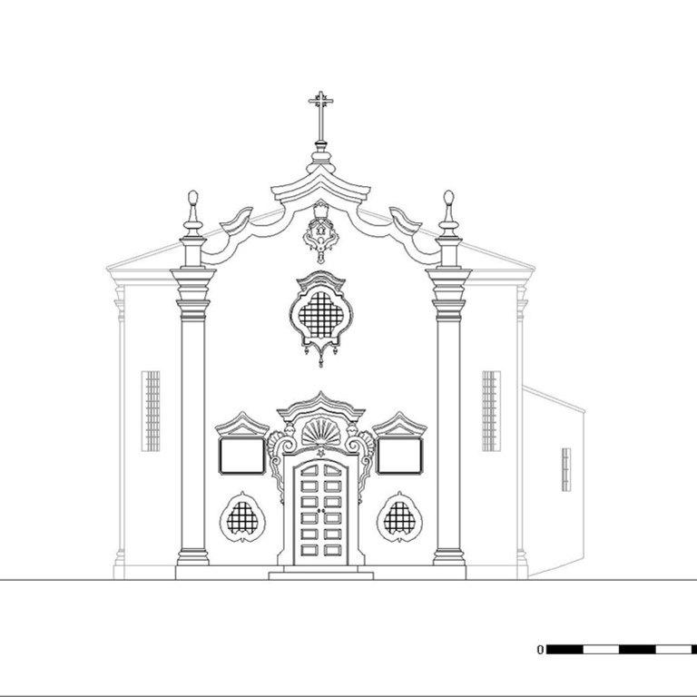 Capela de Nossa Senhora da Cabeça - alçado poente