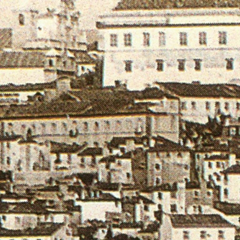 Detalhe da fotografia de Carlos Relvas, Vista de Coimbra, Começo dos anos 1870 (Coleção Margarida Costa Alemão)