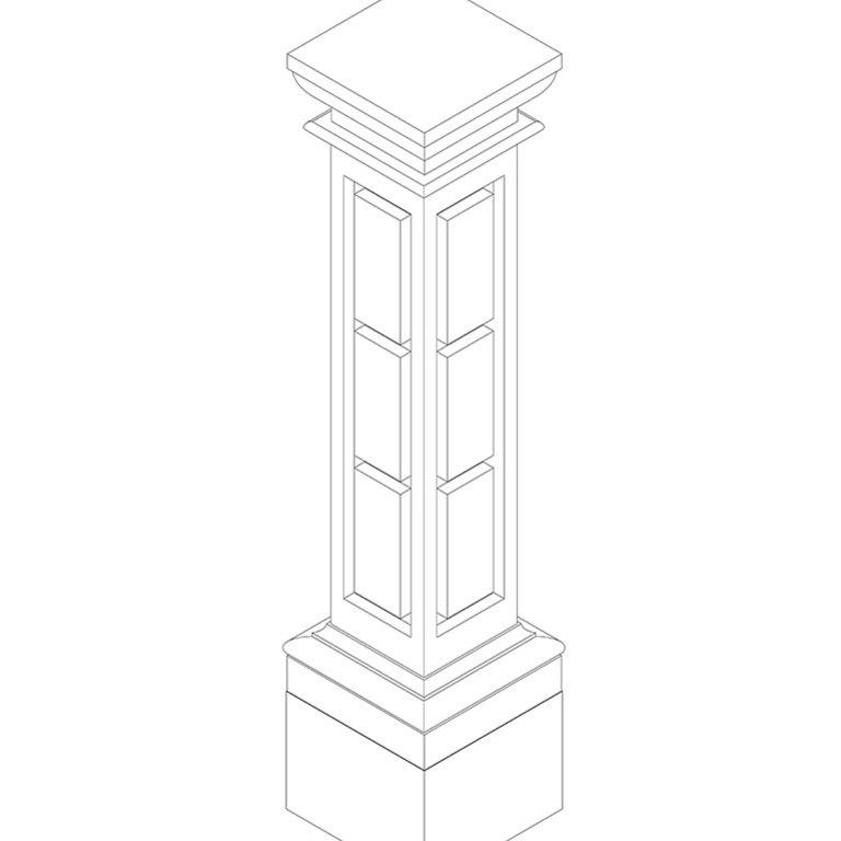 3D de pilar