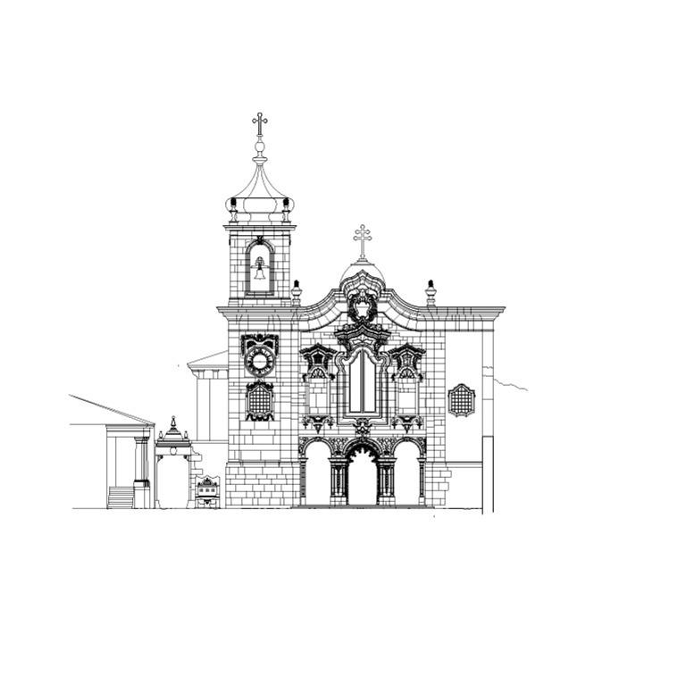 Alçado frontal da igreja
