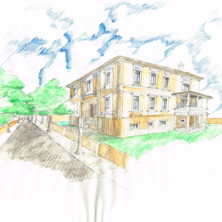 Desenho perspético Casa Ferrand Pimentel d'Almeida  ·  Luís Sil  ·  2014/2015