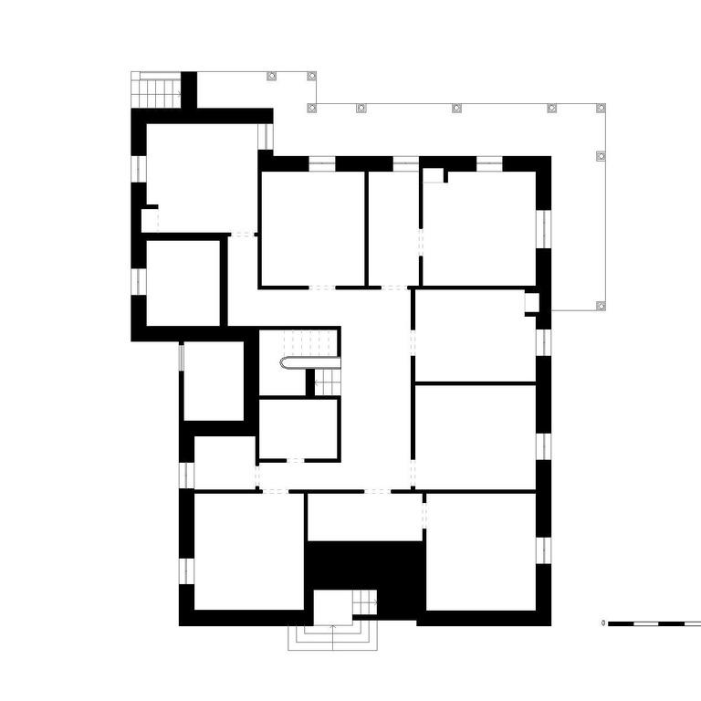 Planta do piso 0 - proposta do edifício original