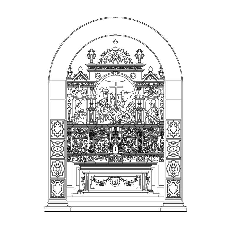 Detalhe do retábulo da capela-mor