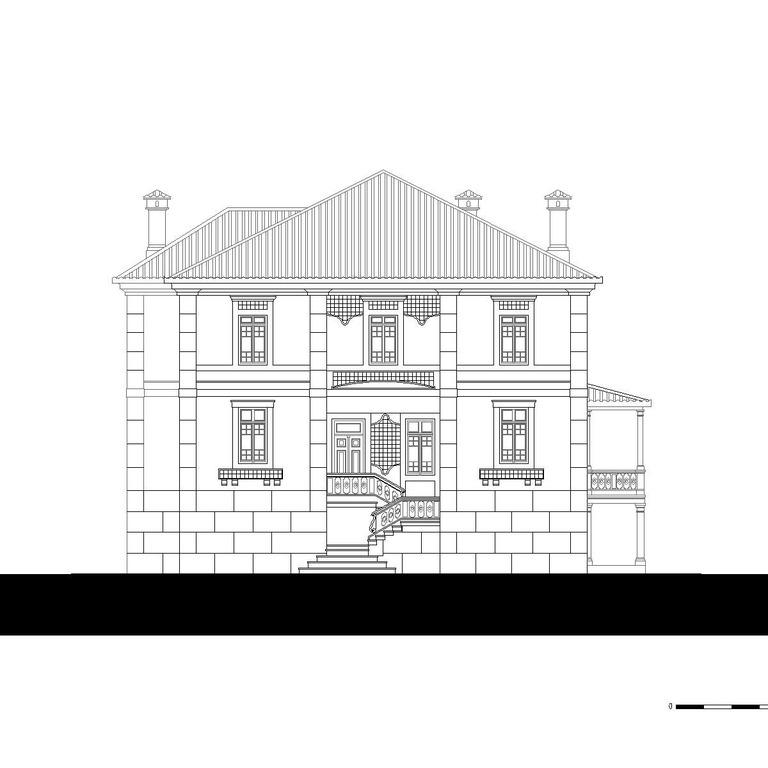 Alçado poente - proposta do edifício original