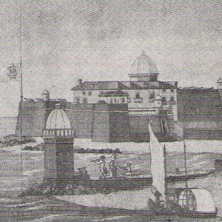 Detalhe da «Perspetiva da Entrada da Barra da Cidade do Porto e Fortaleza que a defende» (1790) B.P.M.P.