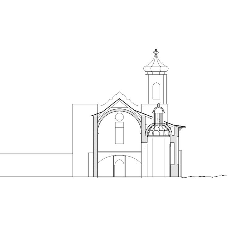 Corte transversal pela Capela dos Reis Magos