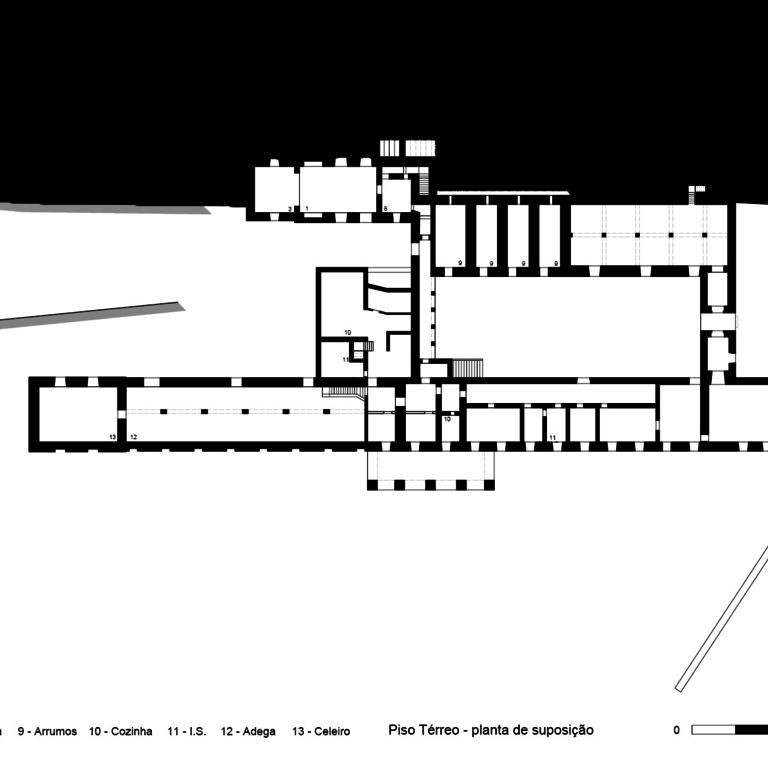 Planta do piso térreo - proposta de interpretação