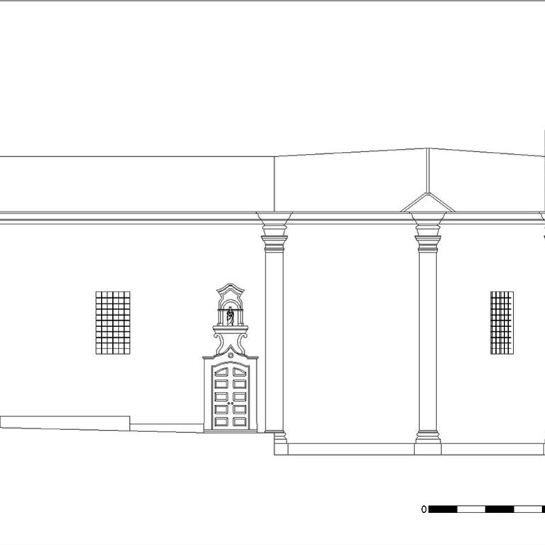 Capela de Nossa Senhora da Cabeça - alçado norte