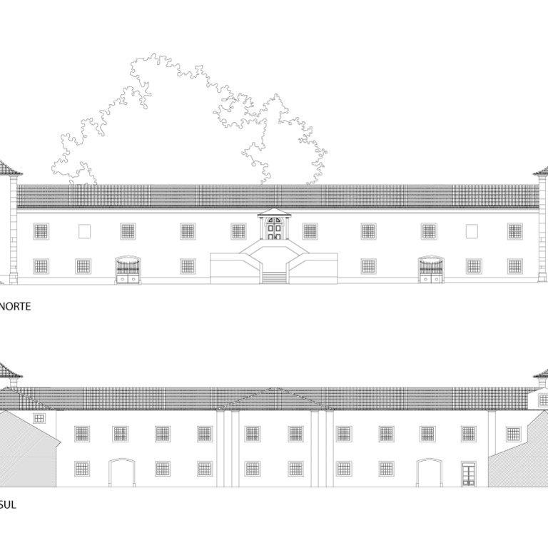 Alçados do edifício principal - estado atual