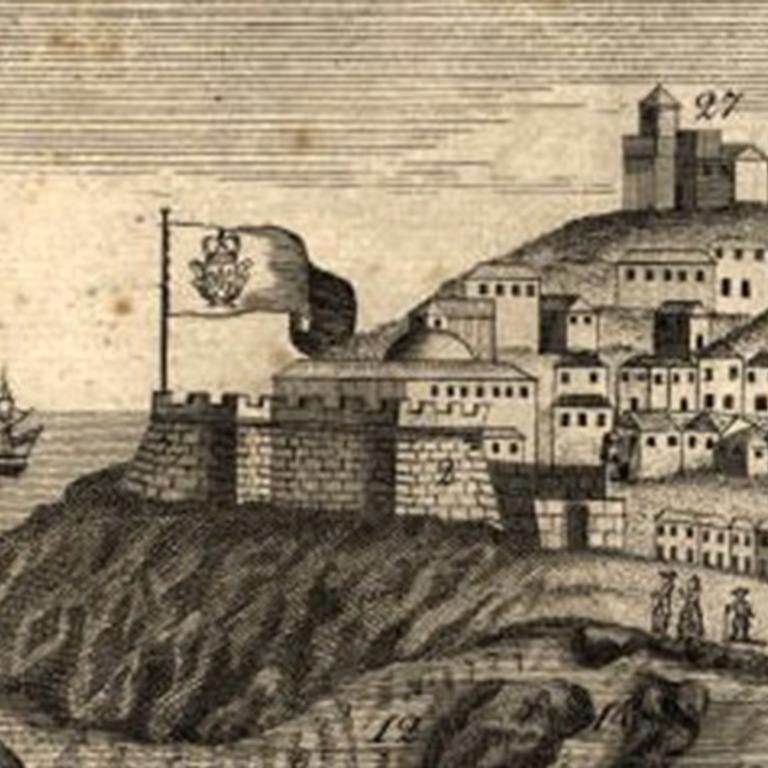Detalhe da «Planta Geográfica da Barra da Cidade do Porto» (1789), de Teodoro de Sousa Maldonado