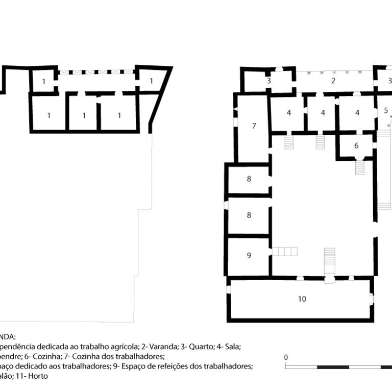 Plans of the building before ruin - interpretation proposal