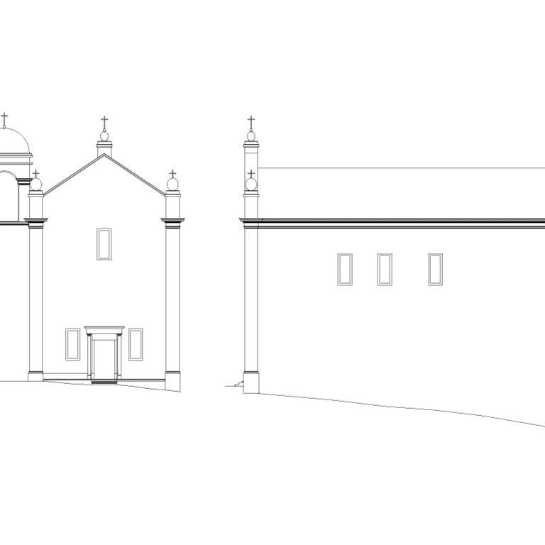 Igreja de S. Jerónimo, alçados – proposta de interpretação