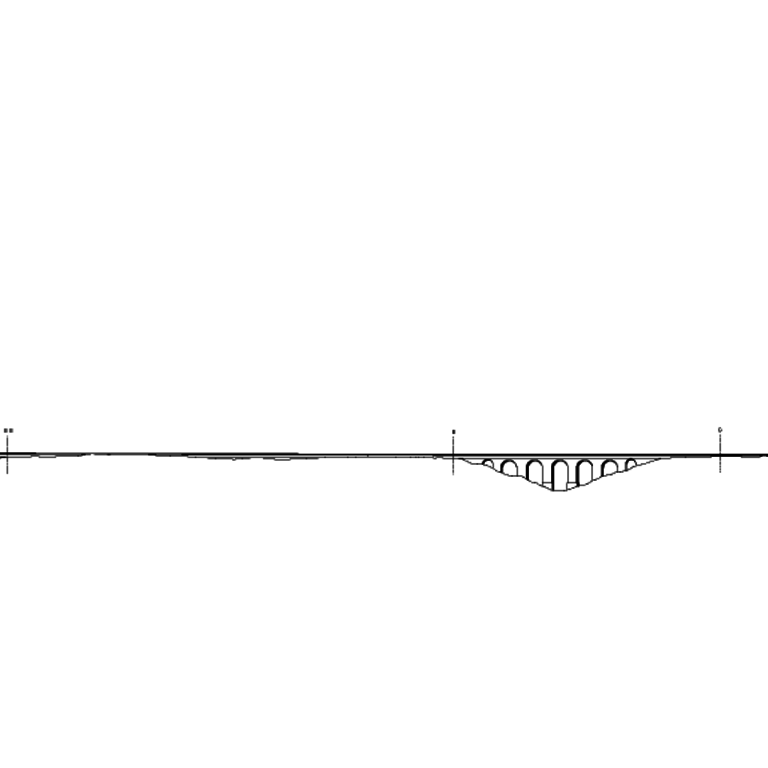 Profile of the set of sections proposed by Manuel Alves Macomboa for the new aqueduct of Santa Clara