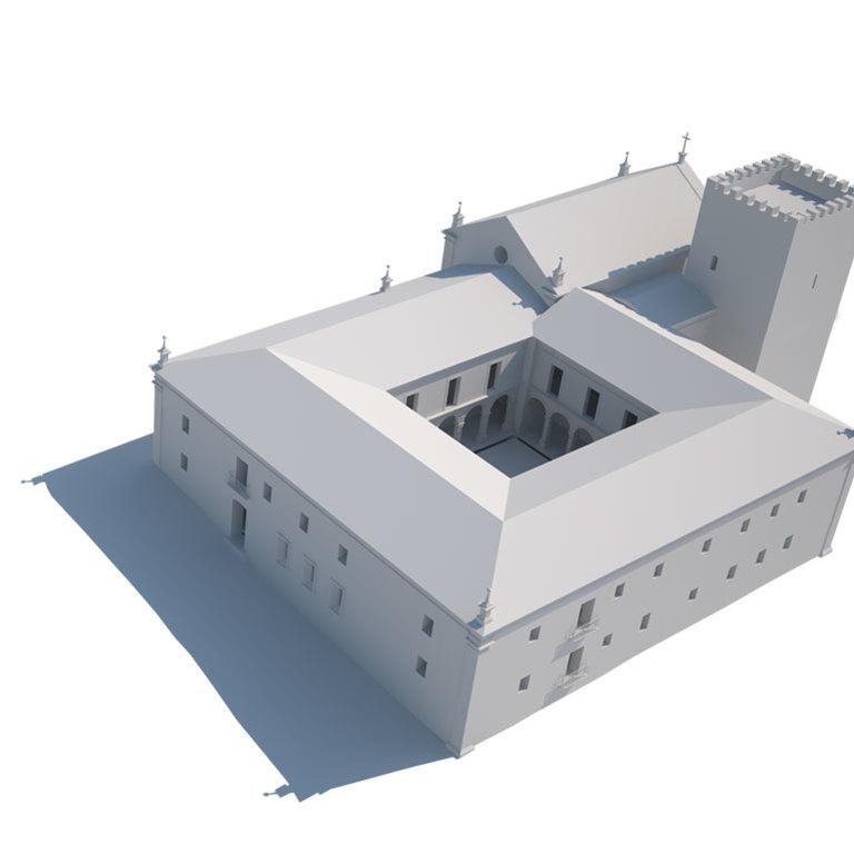 Situação em 1628 (com igreja provavelmente não construída)
